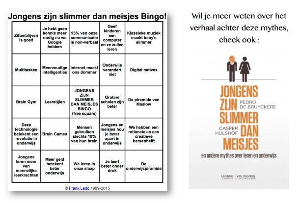Onderwijsmythes bingo