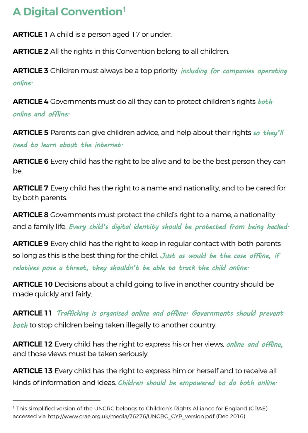 Top 5 Kinderrechten.Een Voorstel Voor Digitale Kinderrechten X Y Of Einstein